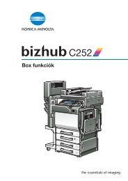 Konica Minolta Bizhub C252 Box kézikönyv