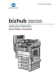 Konica Minolta Bizhub 250 Print Kézikönyv letöltése