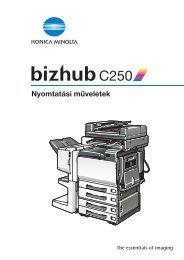 Konica Minolta Bizhub C250 Print kézikönyv - GRAPHAX.HU ...