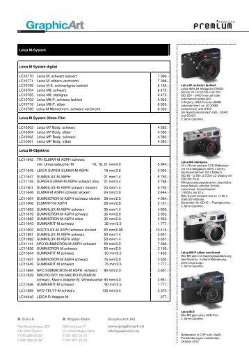 Leica M D - GraphicArt AG