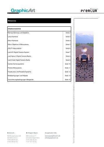 Mietpreisliste D - GraphicArt AG