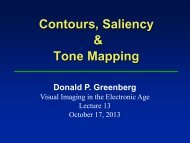 Contours, Saliency and Tone Mapping F13 - Cornell Program of ...