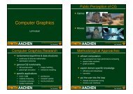 aachen - Computer Graphics and Multimedia