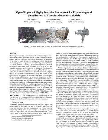 Paper - Computer Graphics and Multimedia - RWTH Aachen ...