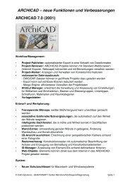 ARCHICAD – neue Funktionen und Verbesserungen - Graphisoft ...