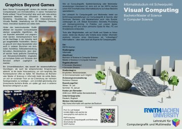 Visual Computing - Computer Graphics Group at RWTH Aachen