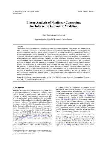 Linear Analysis of Nonlinear Constraints for Interactive Geometric ...