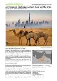 Architektur und Städtebaureise nach Dubai und Abu Dhabi