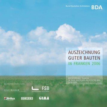kreisverbände franken im bund deutscher architekten bda in bayern