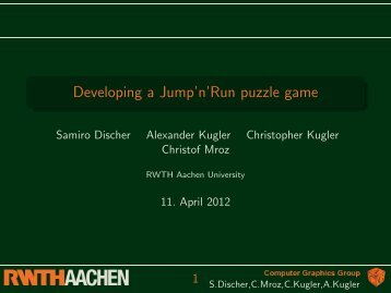 Slides - Computer Graphics and Multimedia - RWTH Aachen ...
