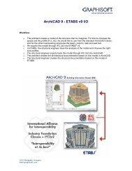 ArchiCAD 9 - ETABS v9 I/O