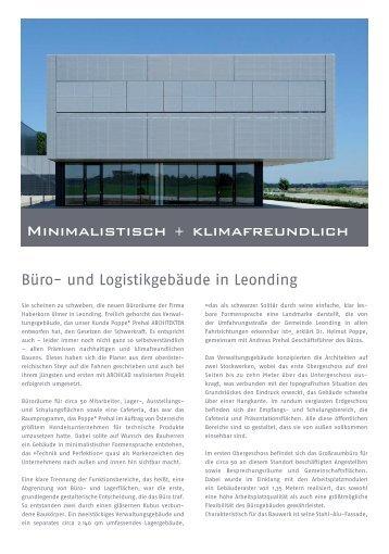 Minimalistisch + klimafreundlich - GRAPHISOFT Deutschland GmbH