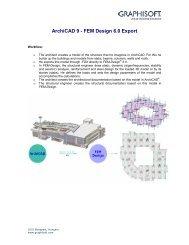 ArchiCAD 9 - FEM Design 6.0 Export