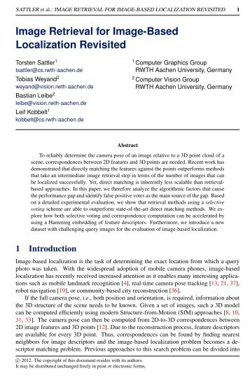 Image Retrieval for Image-Based Localization Revisited - Computer ...