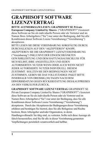 GRAPHISOFT Software-Lizenzvertrag - GRAPHISOFT Deutschland ...