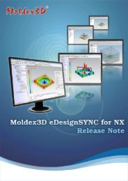 Moldex3D eDesignSYNC for NX Release Note