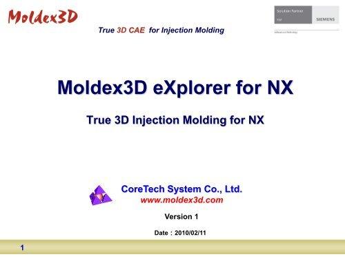 Moldex3D eXplorer for NX