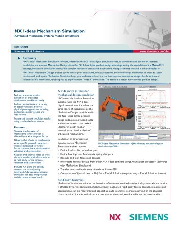 Features of Siemens NX I-DEAS