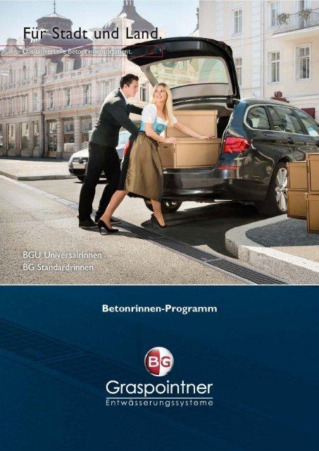 Betonrinnen ohne Zargen - BG Graspointner GmbH & Co KG