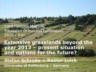 Extensive grasslands beyond the year 2013 – present situation and ...