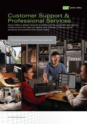 Customer Support & Professional Services Brochure - Grass Valley