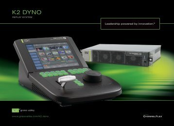 K2 Dyno Replay System Brochure - Grass Valley