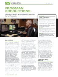 Frogman Productions EDIUS Case Study - Grass Valley