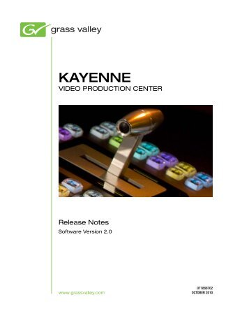 Kayenne v2.0 Release Notes - Grass Valley