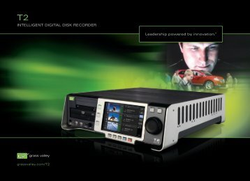 T2 Intelligent Digital Disk Recorder - Grass Valley