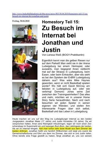 Zu Besuch im Internat bei Jonathan und Justin - Gratis Webserver