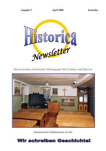 Historica News April Teil 1 - Gratis Webserver