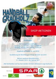 Shop-Aktionen - Handball Grauholz