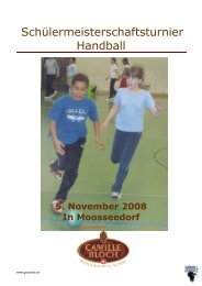Schülermeisterschaftsturnier Handball - Handball Grauholz