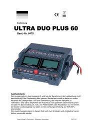 Kurzanleitung Graupner 6478 ULTRA DUO PLUS 60 ...