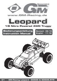 1/8 Nitro Powered 4WD Truggy Bedienungsanleitung ... - Graupner