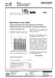 """StZ 2.1 ifz-info Die einbruchhemmende Tür """"My home is ... - Grauthoff"""