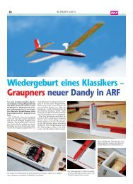 Wiedergeburt eines Klassikers – Graupners neuer Dandy in ARF