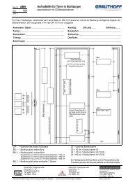 4.4 Aufmaßhilfe für Türen in Stahlzargen - Grauthoff