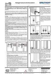 4.1 Montagehinweise für Schallschutztüren - Grauthoff