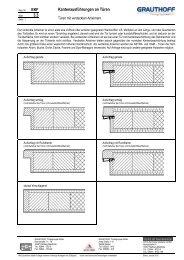 3.3 Kantenausführungen an Türen - Grauthoff