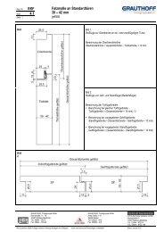 4.1 Falzmaße an Standardtüren 39 – 42 mm - Grauthoff