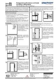 12.1a Montageanleitung Blendrahmen mit Türblatt zum ... - Grauthoff