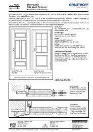 6.1 Wohnraumtür HGM Modell Park Lane - Grauthoff