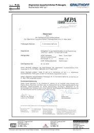 4.1 Allgemeines bauaufsichtliches Prüfzeugnis - Grauthoff