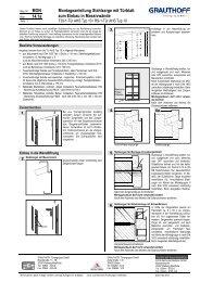 14.1a Montageanleitung Stahlzarge mit Türblatt zum ... - Grauthoff