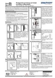 10.1a Montageanleitung Holzzarge mit Türblatt zum ... - Grauthoff