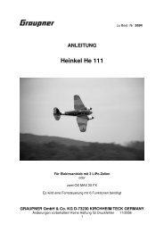 9594 HEINKEL HE 111_DE_FR_EN - Graupner
