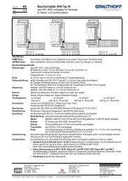 RD 1.1 Rauchschutztür AHS Typ 10 - Grauthoff