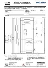 4.3 Aufmaßhilfe für Türen in Stahlzargen - Grauthoff