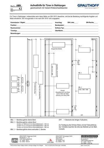 4 4 aufma hilfe f r t ren in stahlzargen grauthoff. Black Bedroom Furniture Sets. Home Design Ideas